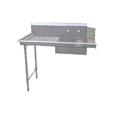 John Boos JDTS-20-48L 48-in Soiled Dishtable w/ 20 x 20 x 8-in Bowl & 16-ga Stainless Legs, L to R