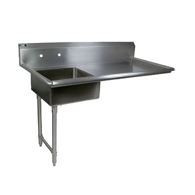 John Boos JDTS-20-50UCL 50-in Undercounter Soiled Dishtable w/ 16-ga Stainless Legs, L to R