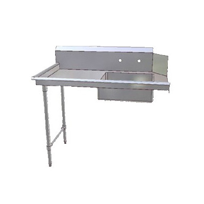 "John Boos JDTS-20-60L 60"" Soiled Dishtable w/ 20 x 20 x 8"" Bowl & 16-ga Stainless Legs, L to R"