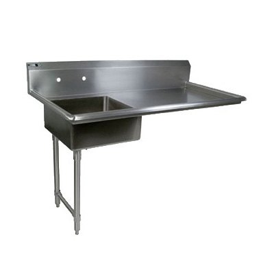 John Boos JDTS-20-60UCL 60-in Undercounter Soiled Dishtable w/ 16-ga Stainless Legs, L to R