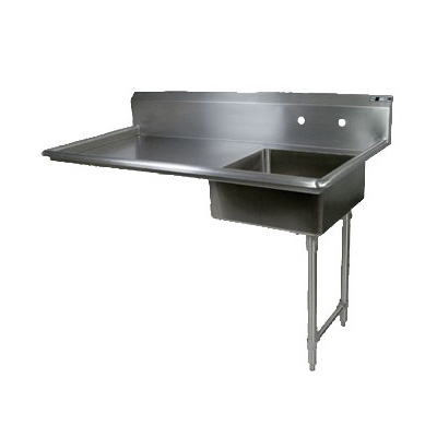 "John Boos JDTS-20-60UCR 60"" Undercounter Soiled Dishtable w/ 16-ga Stainless Legs, R to L"