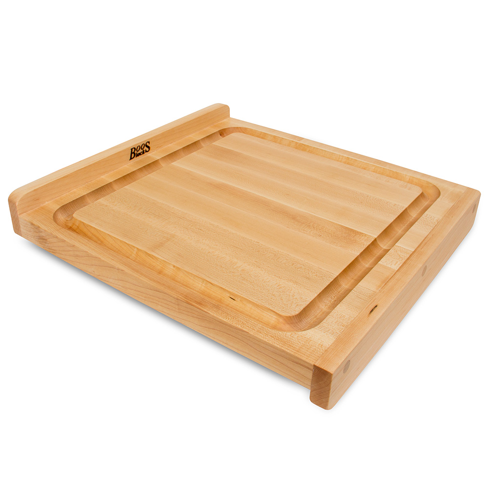 """John Boos KNEB17 Countertop Kneading Board, Maple, Grooved, 17-1/4"""" Sqare, 1-1/4"""" Thick"""