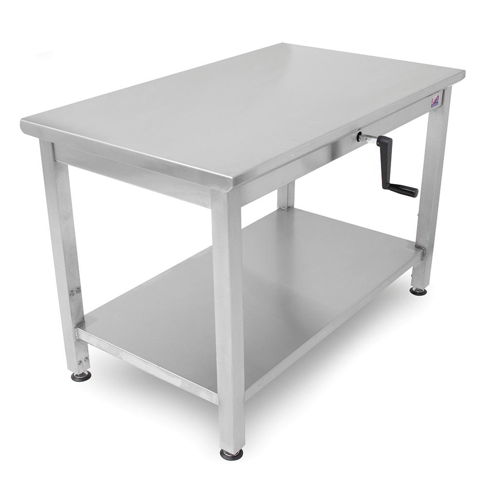 "John Boos LT6-3048SSW 48"" 16-ga Work Table w/ Undershelf & 300-Series Stainless Flat Top"