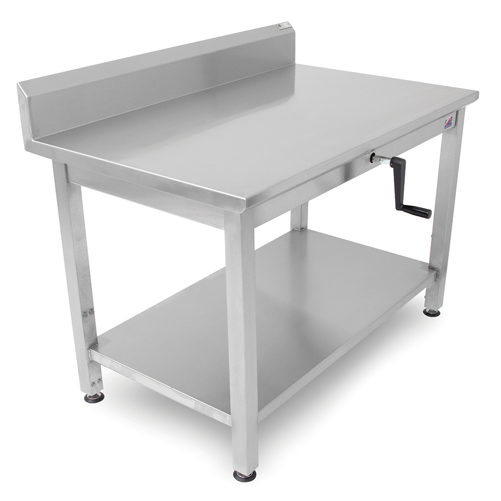 "John Boos LT6R5-3048SSW 48"" 16-ga Work Table w/ Undershelf & 300-Series Stainless Top, 5"" Backsplash"