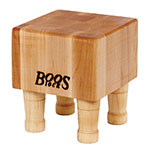 John Boos MCB1 Mini Cheese Block, Hard Maple, 4 Wooden Feet, 6 x 6 in, 4 in Thick