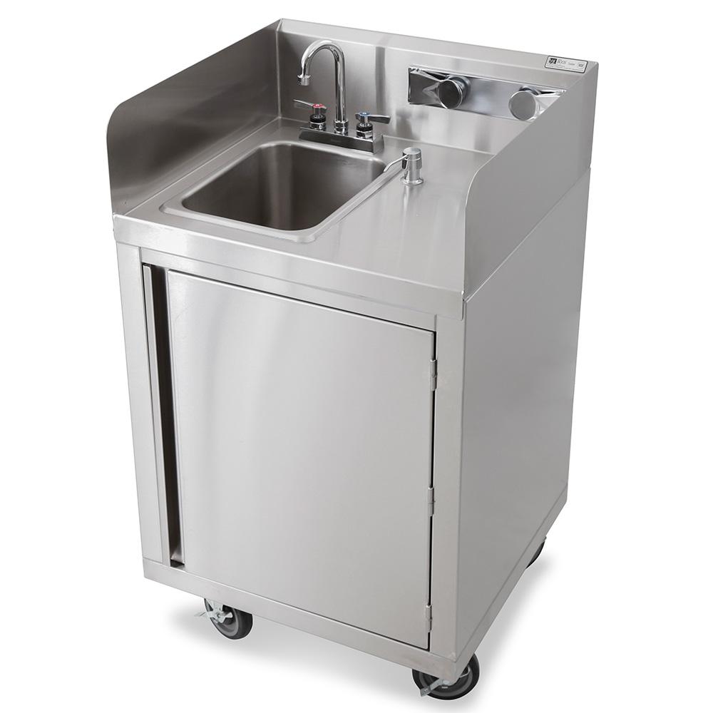 """John Boos MHS-2624 Commercial Hand Sink w/ 10""""L x 14""""W x 10""""D Bowl, Gooseneck Faucet"""