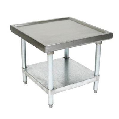 "John Boos MS4-2430GSK 30"" Mixer Table w/ Galvanized Undershelf Base, Shipped Knocked Down, 24""D"