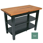 "John Boos OC3625 2S BS American Heritage Oak C Table, 2-Shelves, 36 x 35"" H, Basil"