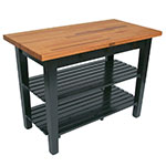 "John Boos OC6025 2S BK American Heritage Oak C Table, 2-Shelves, 60 x 35"" H, Black"
