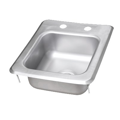 "John Boos PB-DISINK090905 (1) Compartment Drop-in Sink - 9"" x 9"", Drain Included"