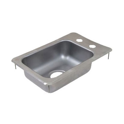 "John Boos PB-DISINK101405 (1) Compartment Drop-in Sink - 10"" x 14"", Drain Included"
