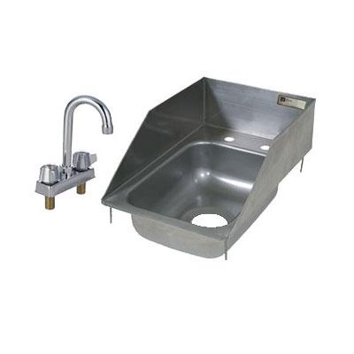 """John Boos PB-DISINK101405-P-SSLR 12.5"""" 1-Compartment Sink w/ 10""""L x 14""""W Bowl, 5"""" Deep"""