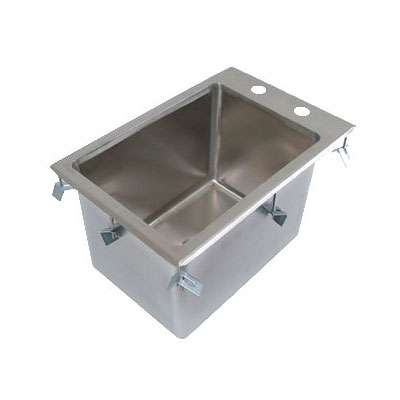 John Boos PB-DISINK101410 Drop-In Sink, Deck Mount, 14 x 10 x 10-in