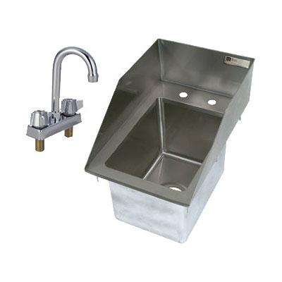 """John Boos PB-DISINK101410-P-SSLR 12.5"""" 1-Compartment Sink w/ 10""""L x 14""""W Bowl, 10"""" Deep"""