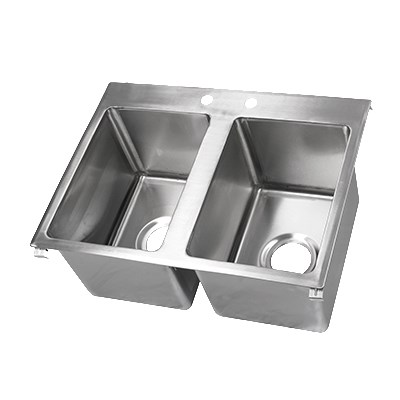 "John Boos PB-DISINK141612-2 (2) Compartment Drop-in Sink - 14"" x 16"""