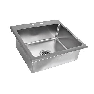 "John Boos PB-DISINK201608 (1) Compartment Drop-in Sink - 20"" x 16"", Drain Included"
