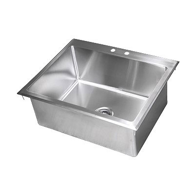 "John Boos PB-DISINK282012 Drop-In Sink w/ (1) Bowl, 28x20"", Stainless"
