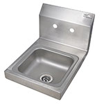 John Boos PBHSW0909 Wall-Mount Hand Sink, 9 x 9 x 5-in, All Stainless
