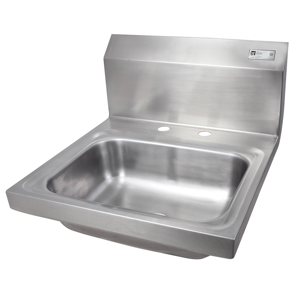 John Boos PBHS-W-1410-2DM Deck Mount Hand Sink, 4-in On-Center, 14 x 10 x 5-in Bowl