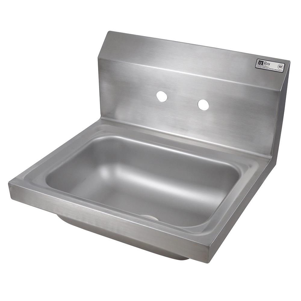 "John Boos PBHS-W-1410-4D Wall Mount Commercial Hand Sink w/ 14""L x 10""W x 5""D Bowl, Basket Drain"