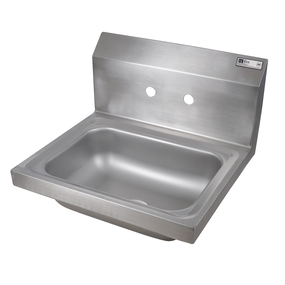 "John Boos PBHS-W-1410 Wall Mount Commercial Hand Sink w/ 14""L x 10""W x 5""D Bowl"