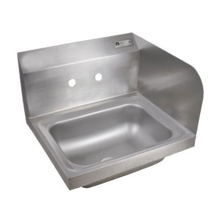 "John Boos PBHS-W-1410-SSR Splash Mount Hand Sink w/ Right-Side Splash, 4"" On-Center, 14x10x5"" Bowl"