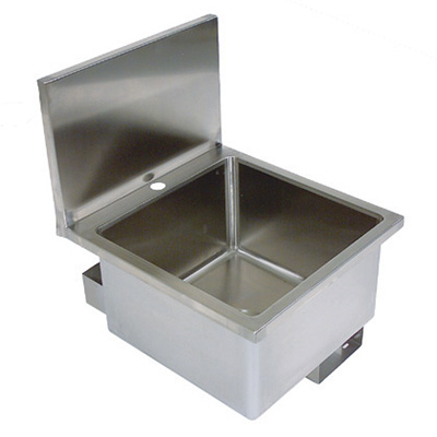"John Boos PBHS-W-1616 Wall Mount Commercial Hand Sink w/ 16""L x 16""W x 10""D Bowl, Basket Drain"