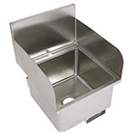 "John Boos PBHS-W-1616-SSLR Deck Mount Hand Sink w/ 2-Side Splash, 1-Hole, 16 x 16 x 10"" Bowl"