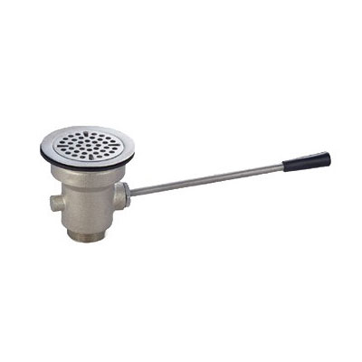 John Boos PB-LWS-2 Straight Lever Drain w/ 3.5-in Opening & 2-in Outlet
