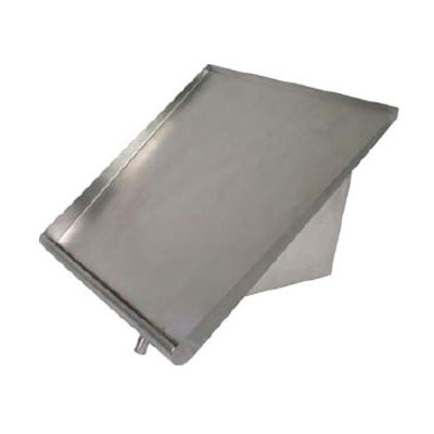 John Boos PB-SRW-42 Solid Sorting Shelf w/ Corner Drain Tube, Wall Mount, 18-ga Stainless, 42x18-in