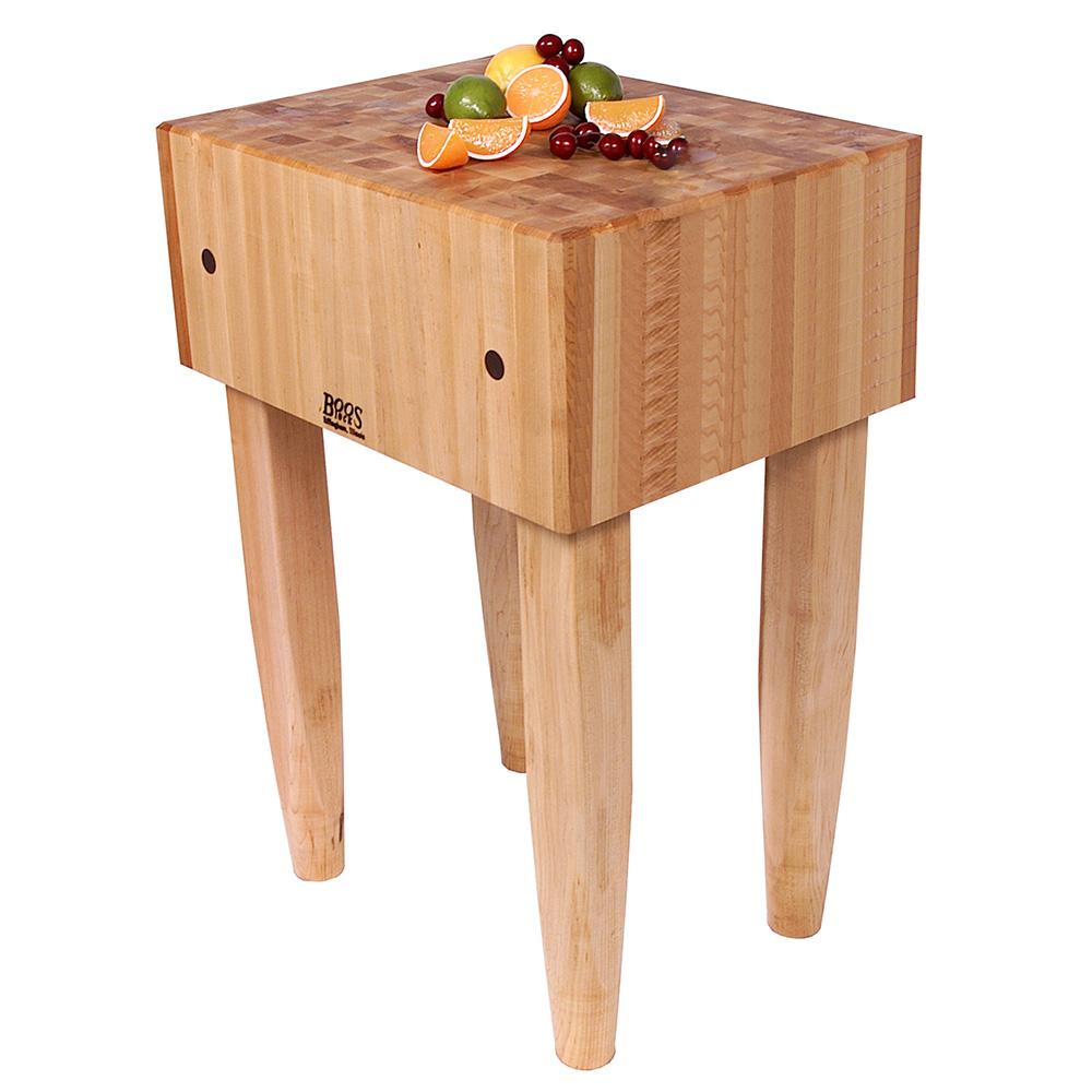 "John Boos PCA2 10"" Maple Top Butcher Block Work Table - 18""L x 24""D"
