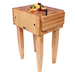 "John Boos PCA4 10"" Maple Top Butcher Block Work Table - 24""L x 30""D"