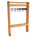 "John Boos POTR30 Pot Rack, Maple, Stainless Steel Bar & Hooks, 30""Wide"