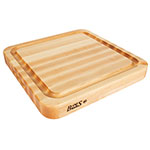 "John Boos RAD1818-GRV-S Grooved Cutting Board - Pour Spout, Grips, 18x18x2.25"", Hard Rock Maple"