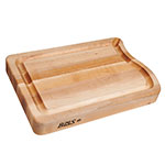 John Boos RAPA01 Cutting Board, Grooved w/ Pour Spout, 18x12x2.25-in, Hard Rock Maple