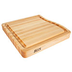 "John Boos RAPA1818 Cutting Board, Grooved w/ Pour Spout, 18x18x2.25"", Hard Rock Maple"