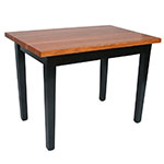 "John Boos RN-C6036-2S Le Classique Table, 1.5"" Edge Grain Cherry, Black Base, 2 Shelves, 60 x 36"""