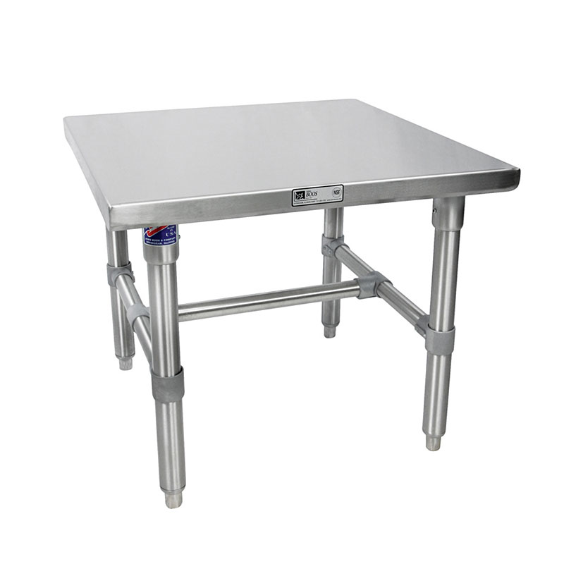John Boos S16MS04 Machine Stand w/ Galvanized Legs & Bracing, 30 x 24-in
