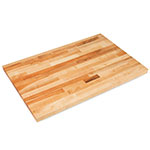 "John Boos SCT015-O 1.5"" Maple Work Table Top - 96""L x 30""D"