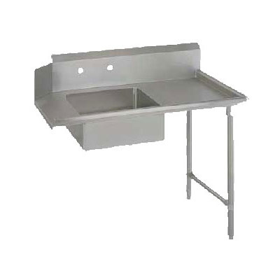 "John Boos SDT6-S48GBK-R Straight Soiled Dishtable w/ (1) Bowl & 10"" Backsplash, Galvanized Legs, R-L"