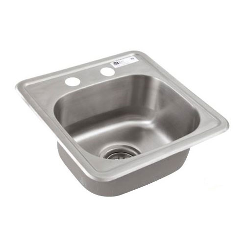 "John Boos SK01 Drop-In Commercial Hand Sink w/ 15""L x 15""W x 5""D Bowl, Basket Drain"
