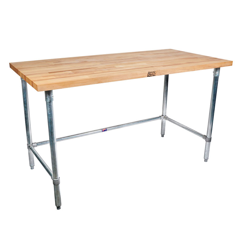 "John Boos SNB16 Work Table - 1-3/4"" Maple Top, 72x36"", Stainless"