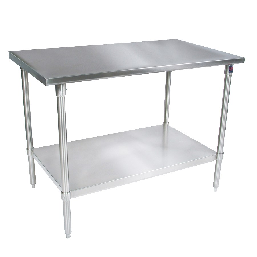 "John Boos ST4-2436GSK 36"" 14-ga Work Table w/ Undershelf & 300-Series Stainless Flat Top"