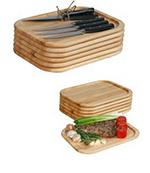 John Boos STKBRD1259501-6 Non-Reversible Steak Board w/ 1-in Inset, Cream Finish, Beeswax, Maple