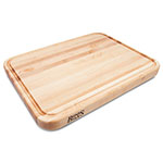 "John Boos TEN2418 Cutting Board w/ Juice Groove - Stainless Feet, 24x18x2"", Northern Hard Rock Maple"