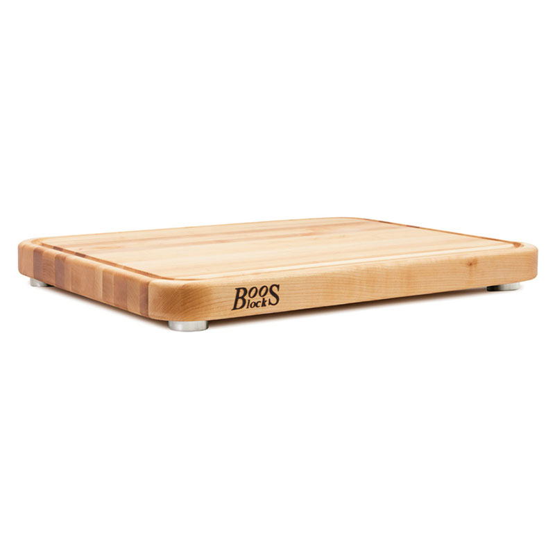 "John Boos TEN2418-3 Cutting Board w/ Juice Groove- Stainless Feet, 24x18x2"",Northern Hard Rock Maple"