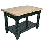 "John Boos TUSI7232 BS Tuscan Island w/ Maple Edge Grain Top & 2-Drawers, 72x32x1.75"", Basil Green"