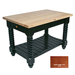 "John Boos TUSI7232 CR Tuscan Island w/ Maple Edge Grain Top & 2-Drawers, 72x32x1.75"", Cherry Stain"