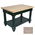 "John Boos TUSI7232 UG Tuscan Island w/ Maple Edge Grain Top & 2-Drawers, 72x32x1.75"", Useful Gray"