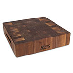 "John Boos WAL-CCB121203 Chopping Block w/ Grips, 12x12x3"", Walnut, Reversible"